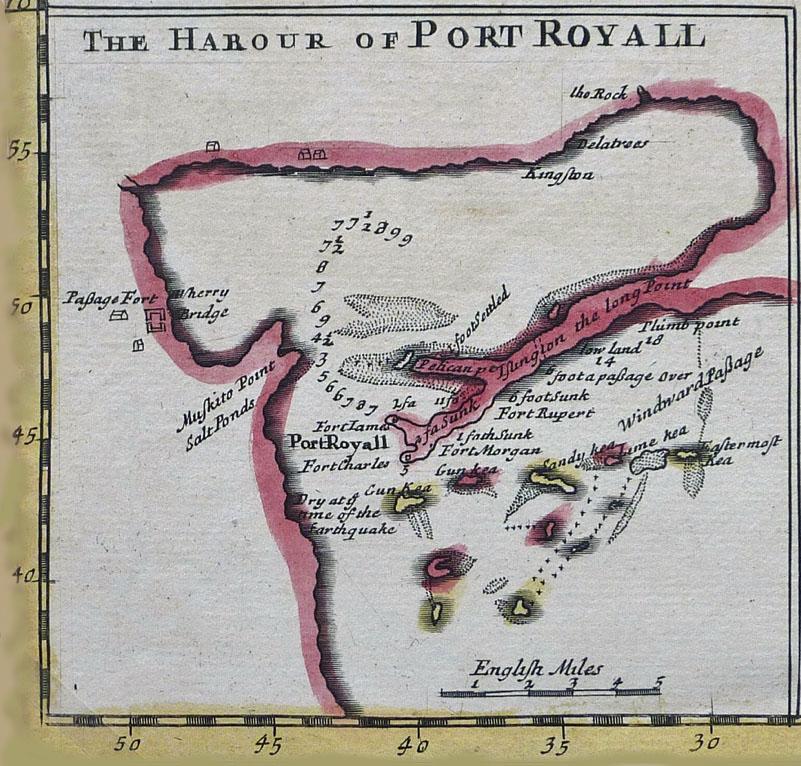 1696 Port Royal Harbour Jamaica  Check Mate